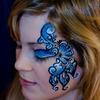 Blue face paint