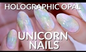 EASY HOLOGRAPHIC OPAL UNICORN NAIL ART