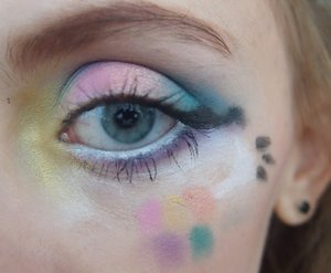 This is the close up of the cute Easter Bunnie makeup I wore for Easter.