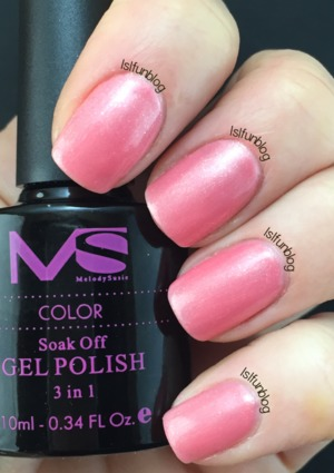 Peachy Pink gel polish from the Melody Susie Starter Kit