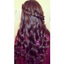 curls with braid