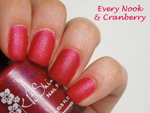 "KBShimmer Fall 2013 ""Every Nook & Cranberry. More info can be found on my blog post: http://www.lacquermesilly.com/2013/08/26/kb-shimmer-fall-2013-collection-review/"