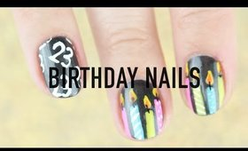 Birthday Nail Art