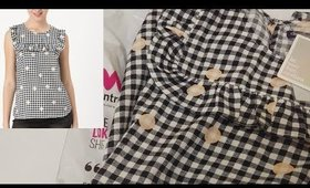 Unboxing Women's Black & White Checked Top from Myntra I Western Wear I Women's Top