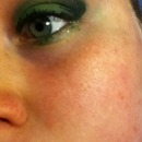 Green eyes green makeup