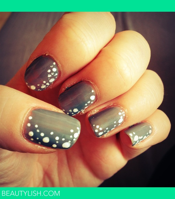 Nail design with dots images nail art and nail design ideas white dots stephanie es photo beautylish first try in nail designs prinsesfo images prinsesfo Gallery