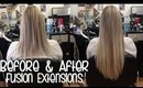 Fusion Hair Extensions - Before and After Amazing Transformation | Instant Beauty ♡