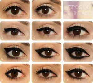 eye liner ideas see how they change your eye shape! follow me on insagram @fashion2beauty