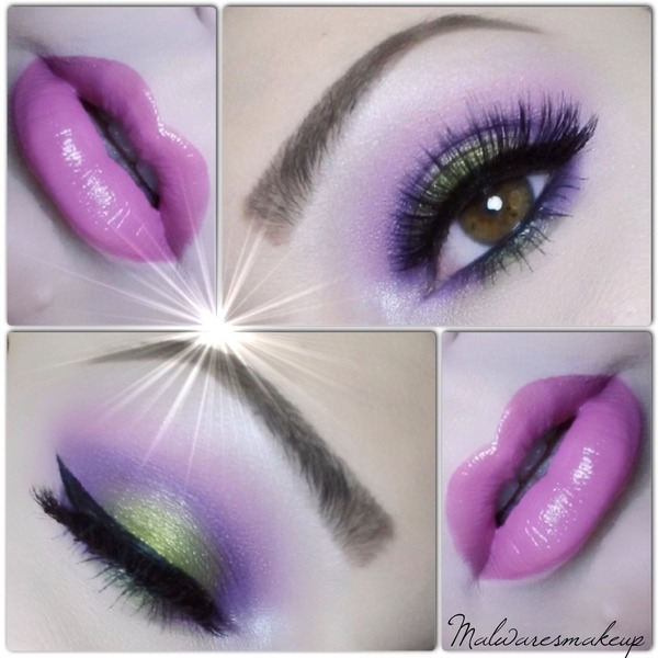 Pink Purple And Green Eyeshadow