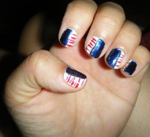 Fourth of July mani I did.