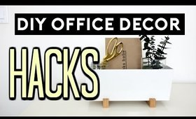 DIY Office Decor Hacks | DIY ROOM DECOR EASY & CHEAP