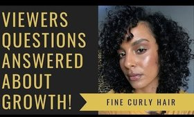 Viewers Questions Answered about Issues with HAIR GROWTH.