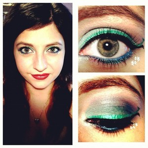 An enchanting, mermaid-inspired look suitable for any formal occasion where some pops of color are desired.
