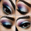 Purple, Blue, and white glam eye
