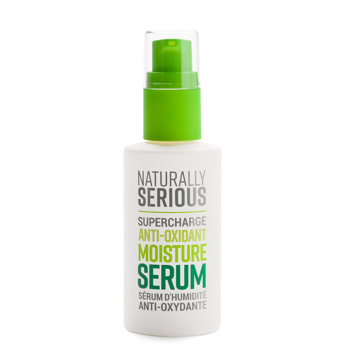 Naturally Serious Supercharge Anti-Oxidant Moisture Serum product smear.