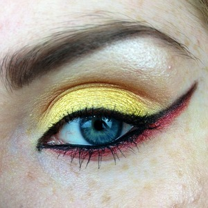 Dark Phoenix look I created for the beauty youtubers facebook collab