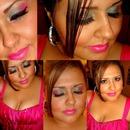 Pink & grey eyeshadow