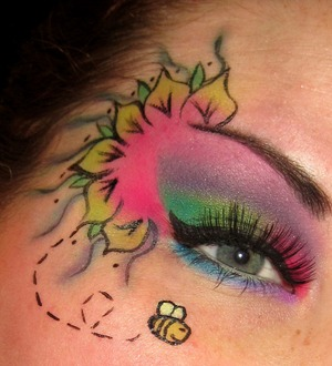 My first ever flower inspired look, go easy on me:P www.facebook.com/makeupfrenzy