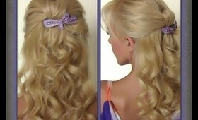 Half Knot Updo   Super Easy Evening Updo   Quick Updo For Long Hair