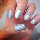 blue and white design