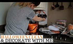 CLEAN AND DECORATE WITH ME HALLOWEEN 2019 UK