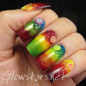 Read the blog post at http://glowstars.net/lacquer-obsession/2014/06/fingerfoods-theme-buffet-cocktail-nails/