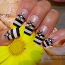 Black and white stripes french