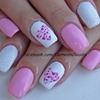 Colorful Heart Nails