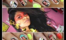 Unha decorada: Índios do Brasil