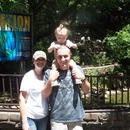 Me my husband and kaylin at the zoo