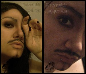 This was the VERY FIRST attempt at making myself into a man. I got better at it, of course. But yeah, thought I'd share my first attempt with you all. I thought I looked like the lead singer of Seether. XD HAHAHAHAA