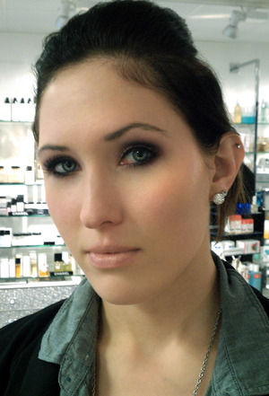 I did my sisters makeup! Normally she doesn't let me.  I feel lucky :)  http://makeupinsider.blogspot.com/2011/10/smokey-eyes-using-new-estee-lauder.html