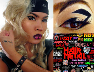My 80's Hair Metal look. Info on my blog: http://www.maryammaquillage.com/2012/02/glam-metal-vixen.html