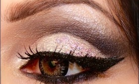 Makeup tutorial : Cut crease glitter