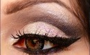 Makeup tutorial : Cut crease glitter