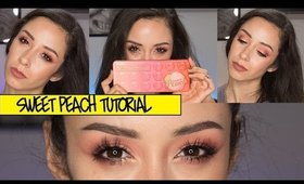 Peachy Gradient Eye Makeup Tutorial ft. Too Faced Sweet Peach Palette