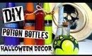DIY Halloween Decor   POTION BOTTLES!!