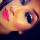 just love her highlight, blush and foundation combo