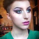 Green and Purple cut crease