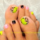 Fun Clock Toenail Art Design