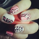 neon pink and vintage white