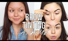 How to: Brow Tinting at Home | @Gabybaggg