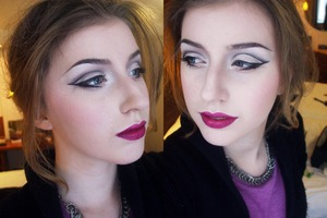 The makeup i wore to see Cabaret in London.