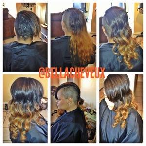 Short cut, with ombré hair color