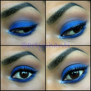 """L'Oreal Hip eyeshadow duo in """"Roaring"""".. Makeup Forever Aquabrow on my brows."""