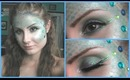 Mermaid Halloween Tutorial 2013 (Hair, Scales, and Makeup)