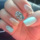 Tiffany blue cheetah and glitter
