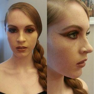 Look 3 for a beauty editorial. Hair&Makeup by: Me.