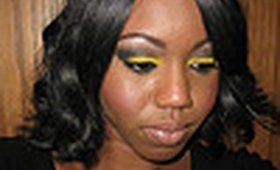 Dramatic Yellow and Black Eyeshadow Tutorial