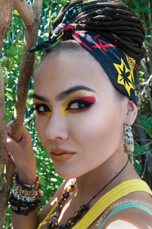 All info on my blog: http://www.maryammaquillage.com/2012/04/rasta-maryam.html